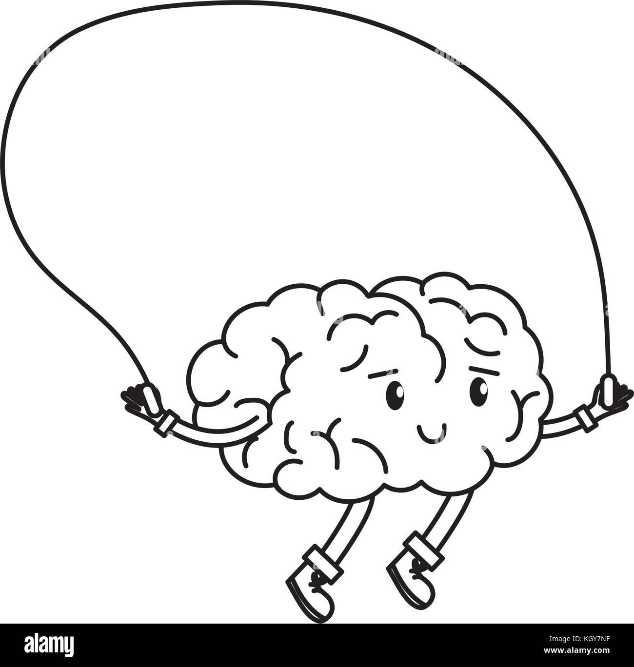 Brain cartoon design - Stock Image