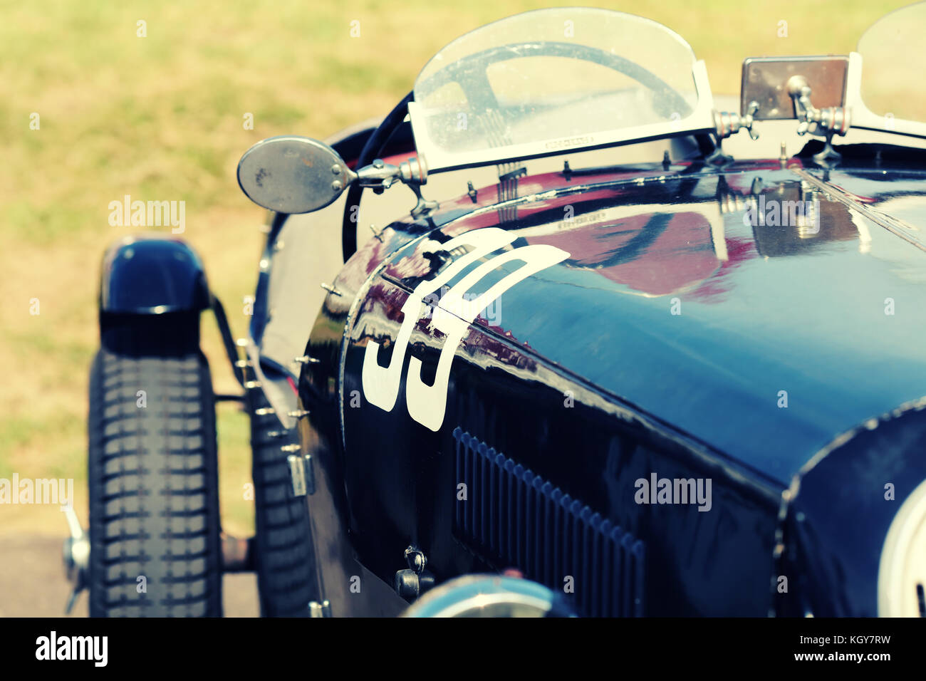 Car Racer Stock Photos Images Alamy Circuit Map For Bromyard Speed Festival Vintage Race Numer 39 Image