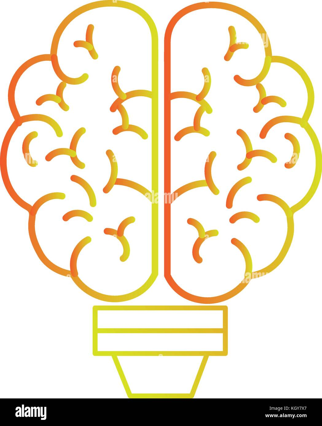 Brain and bulb design - Stock Image