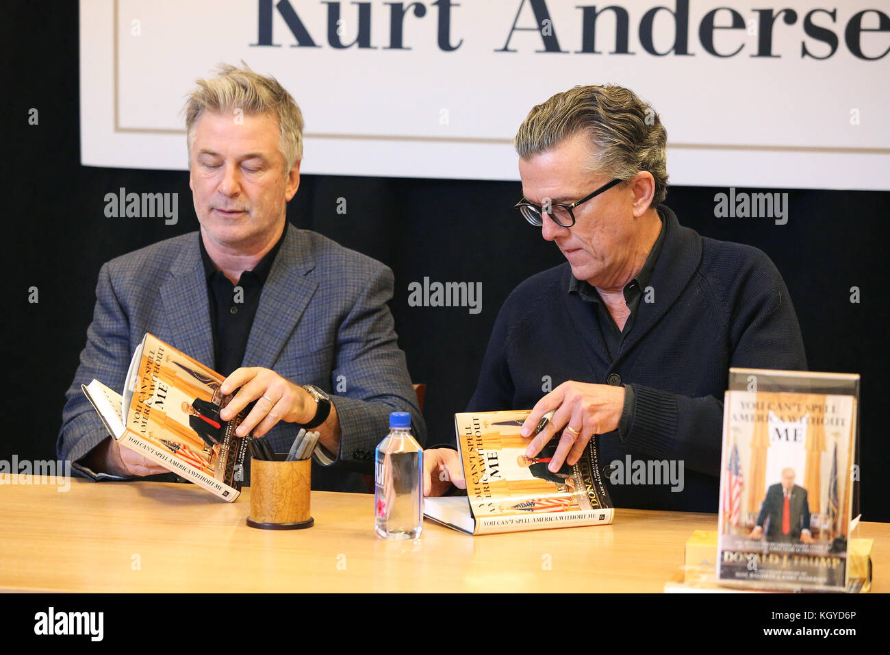 princeton, nj, usa 10th nov, 2017 alec baldwin and kurt andersenprinceton, nj, usa 10th nov, 2017 alec baldwin and kurt andersen pictured at barnes and noble for a book signing event for the new book, you can\u0027t spell