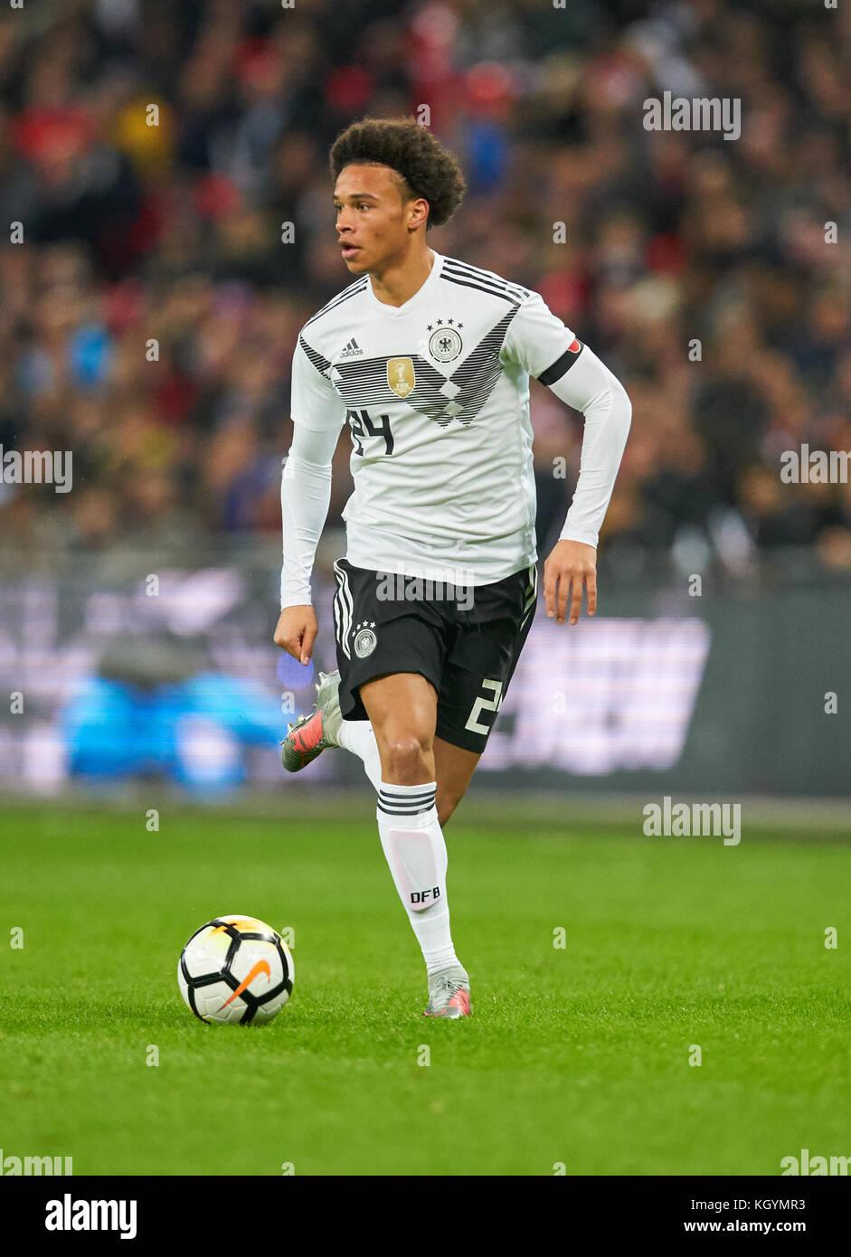 Soccer friendly match, London, November 10, 2017 Leroy SANE, DFB 24    drives the ball, action, full-size,  ENGLAND Stock Photo
