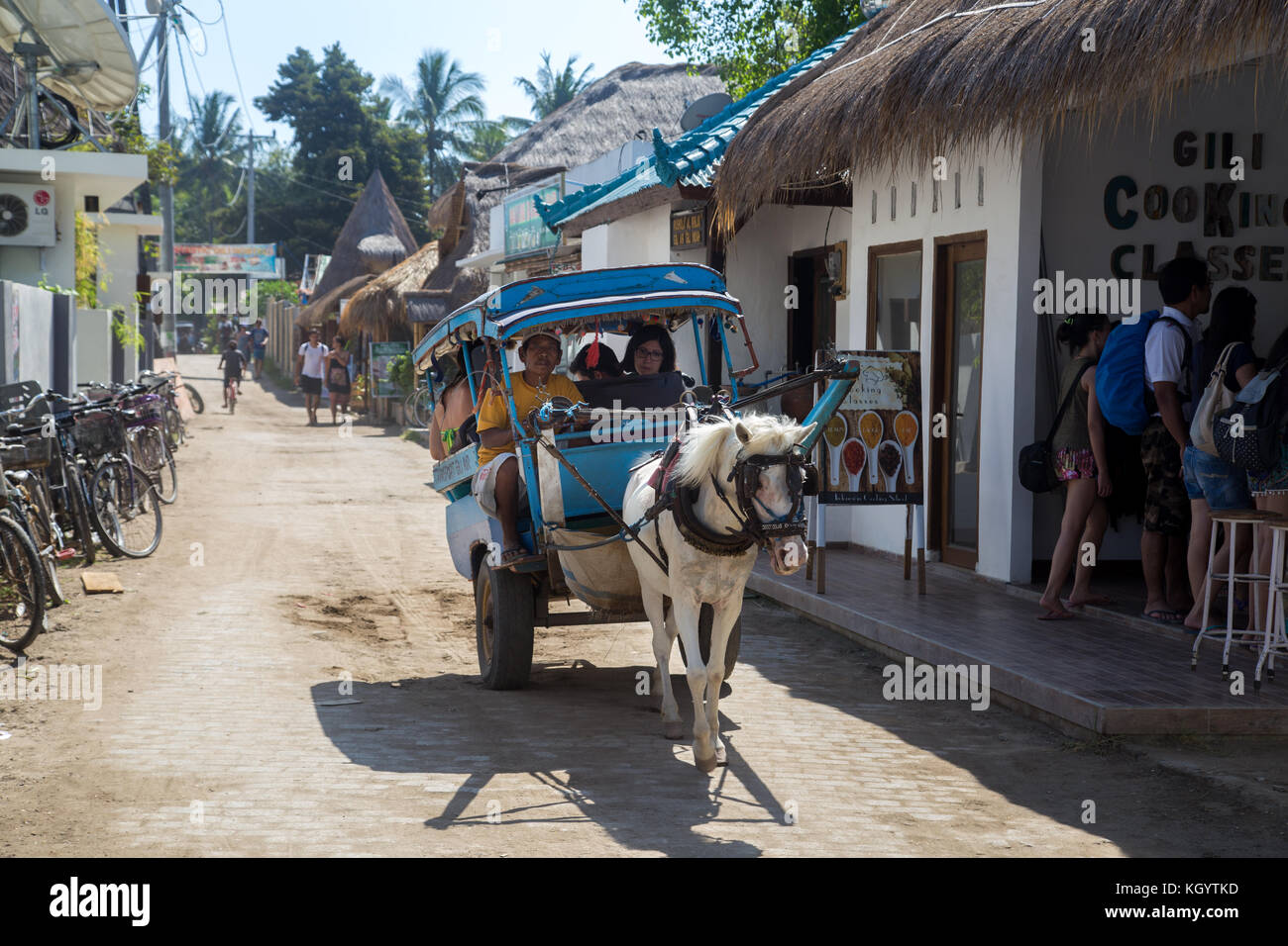 Horse Cart on Gili Air - Stock Image