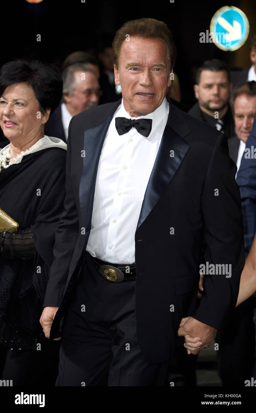 0c83eebc8e5 Arnold Schwarzenegger attends the 19th GQ Men of the Year Awards 2017 at  Komische Oper on