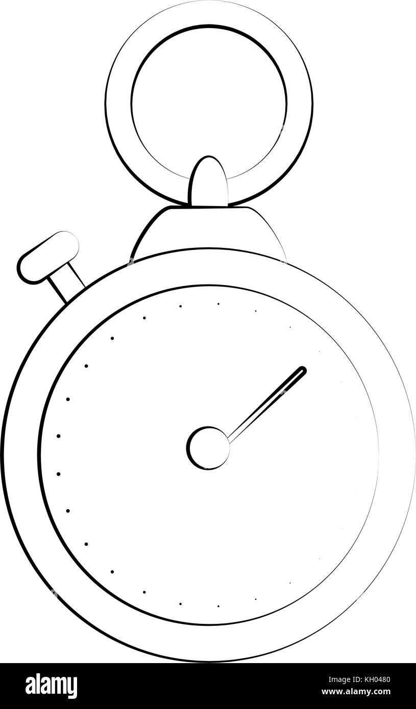 Navigation compass symbol - Stock Image