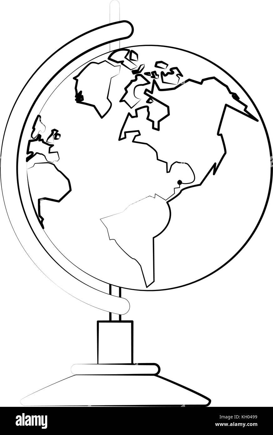 Earth world globe - Stock Image