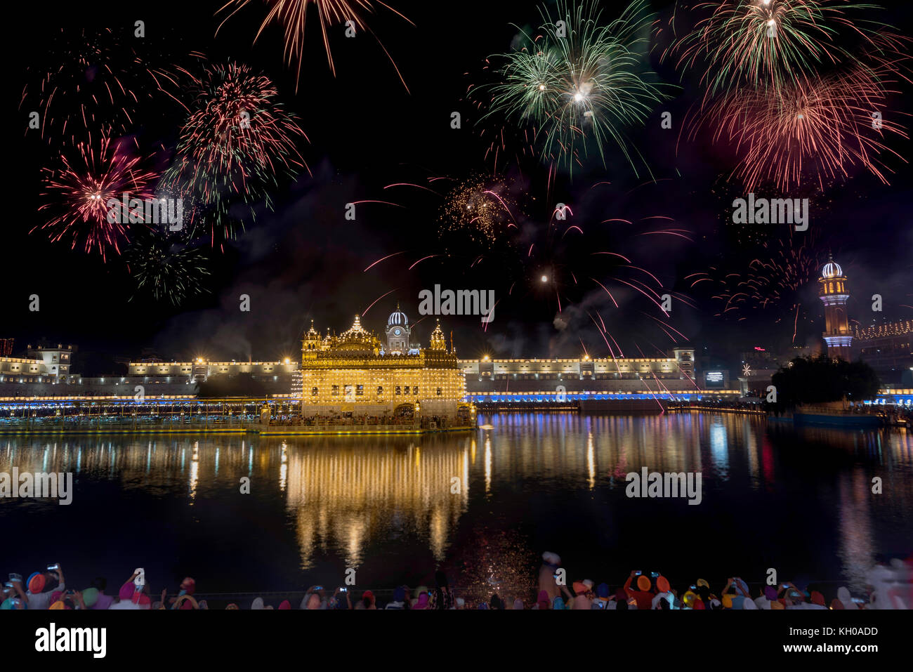 Happy Gurpurab and Diwali - Stock Image