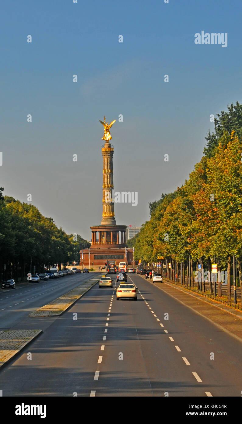 Siegessäule, Victory Column, Großer Tiergarten, Berlin, Germany - Stock Image