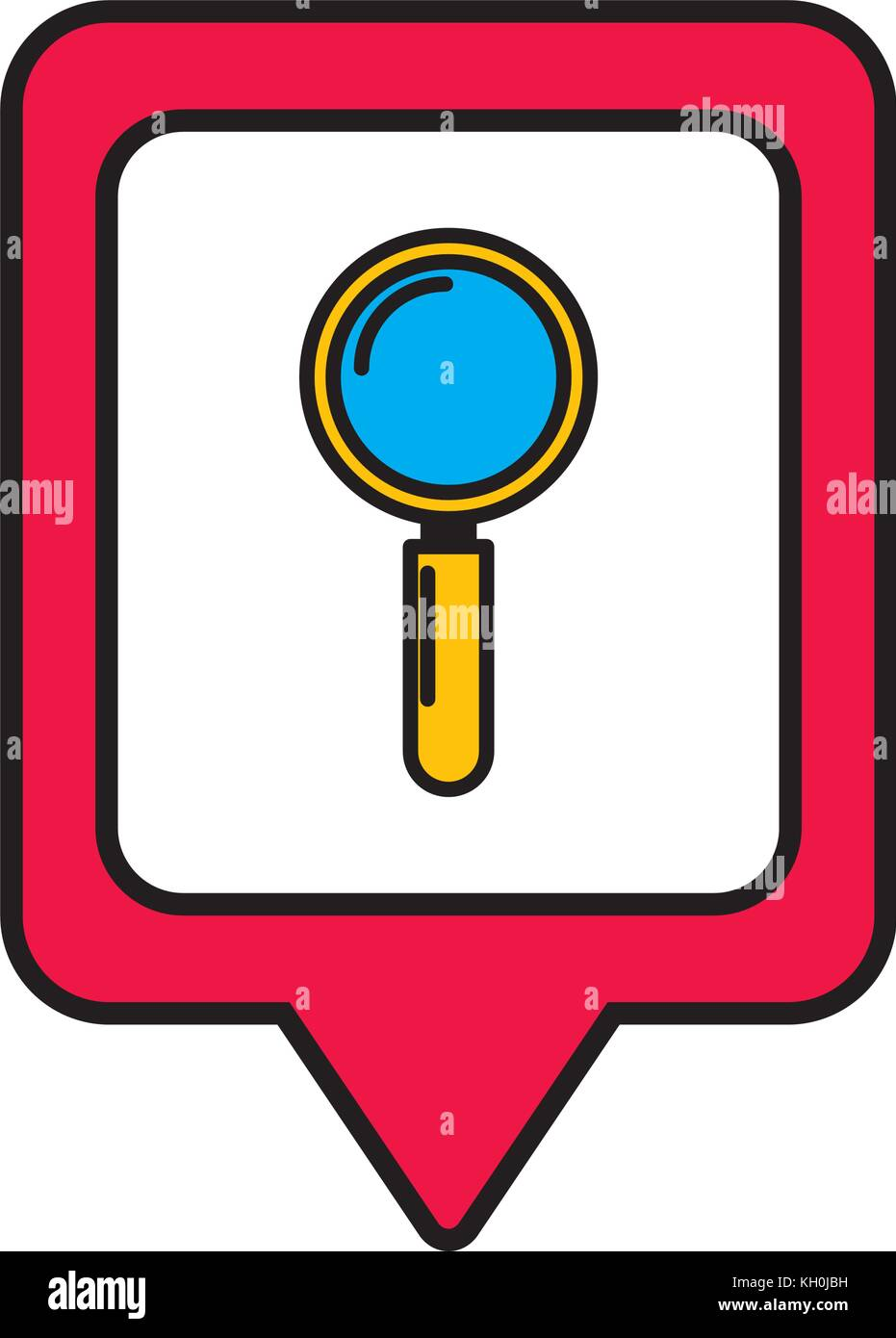 search social media square pointer web - Stock Image