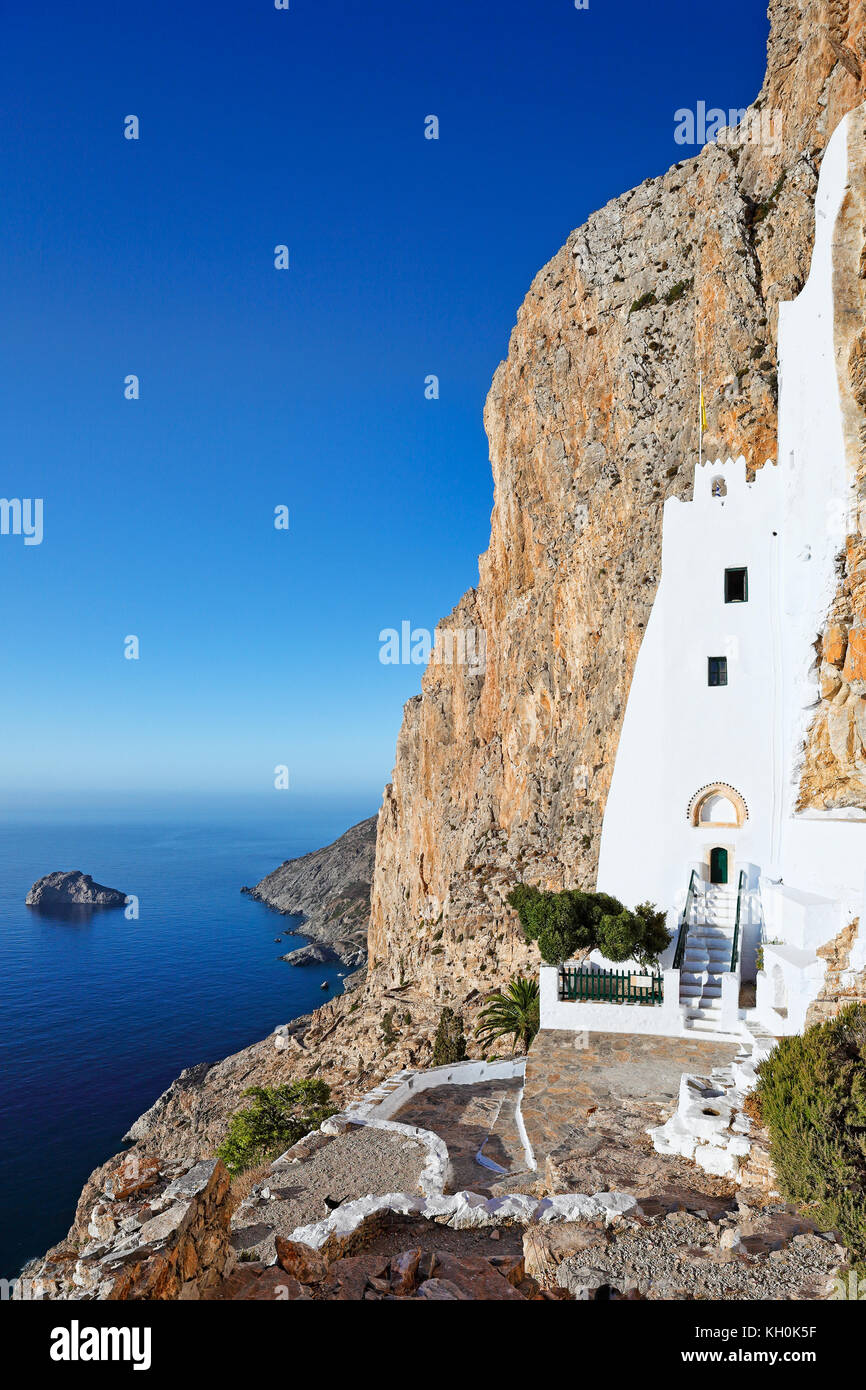 The monastery of Hozoviotissa in Amorgos island, Greece - Stock Image