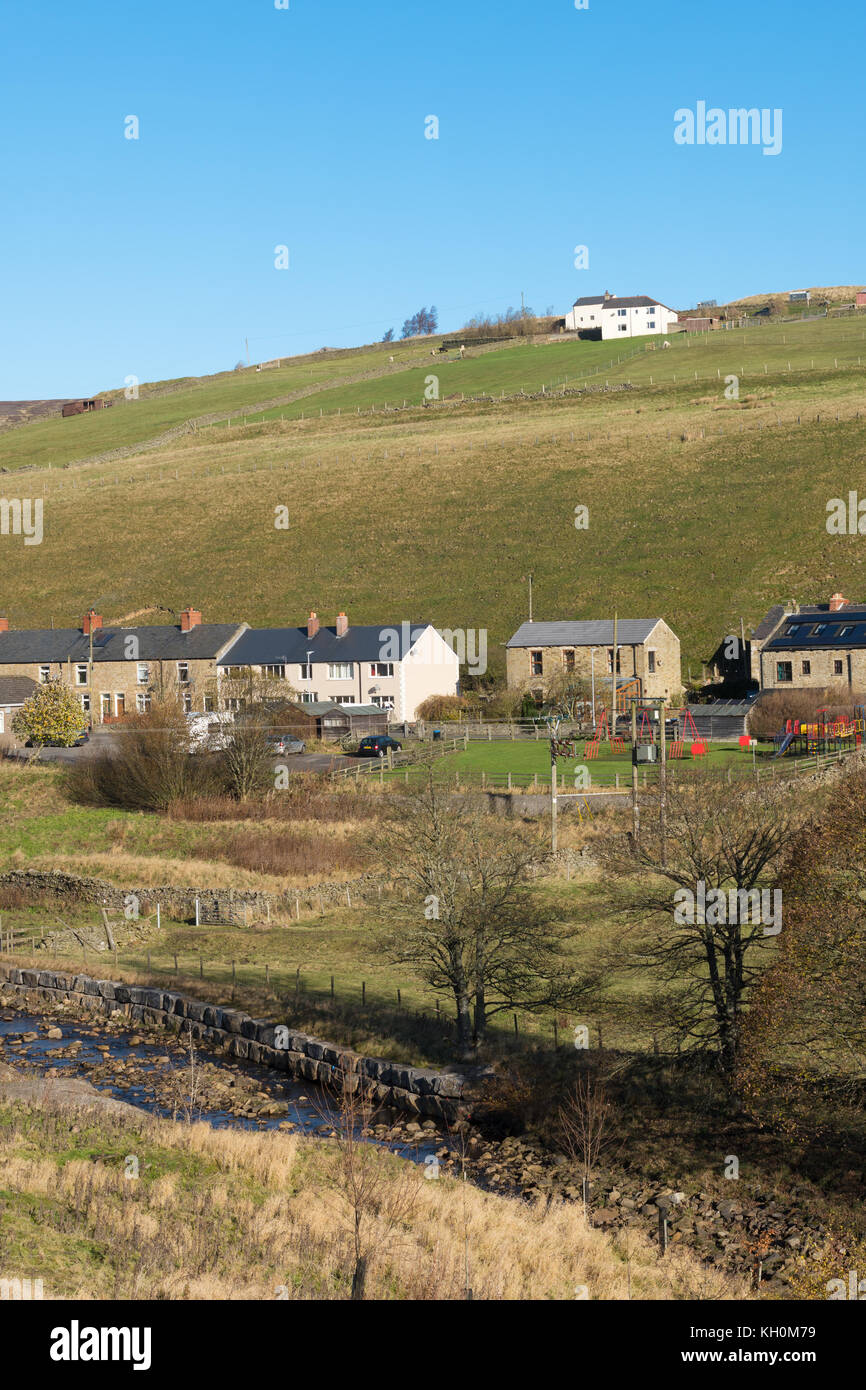 The ex mining village of Rookhope in the North Pennines, Co. Durham, England, UK - Stock Image
