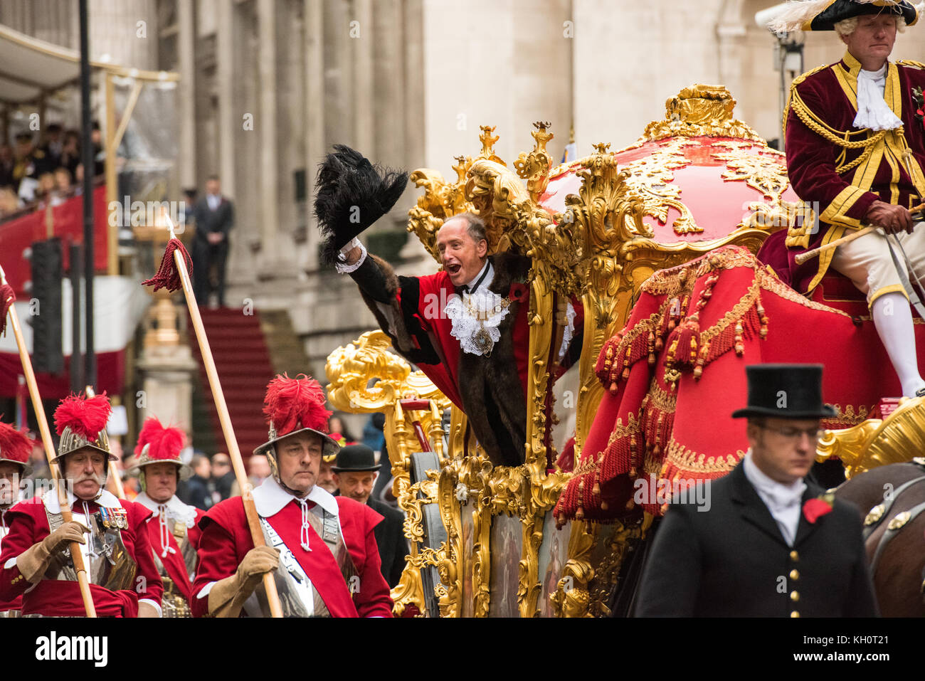 LONDON - NOVEMBER 11, 2017: The incoming Lord Mayor of London at the annual Lord Mayor's Show in the City of - Stock Image