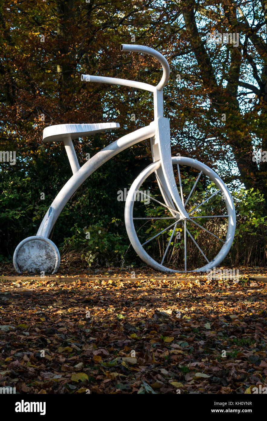 Vogrie Country Park, Midlothian, Scotland, United Kingdom, 12th November 2017.  Sunny Autumn weather  casts long - Stock Image