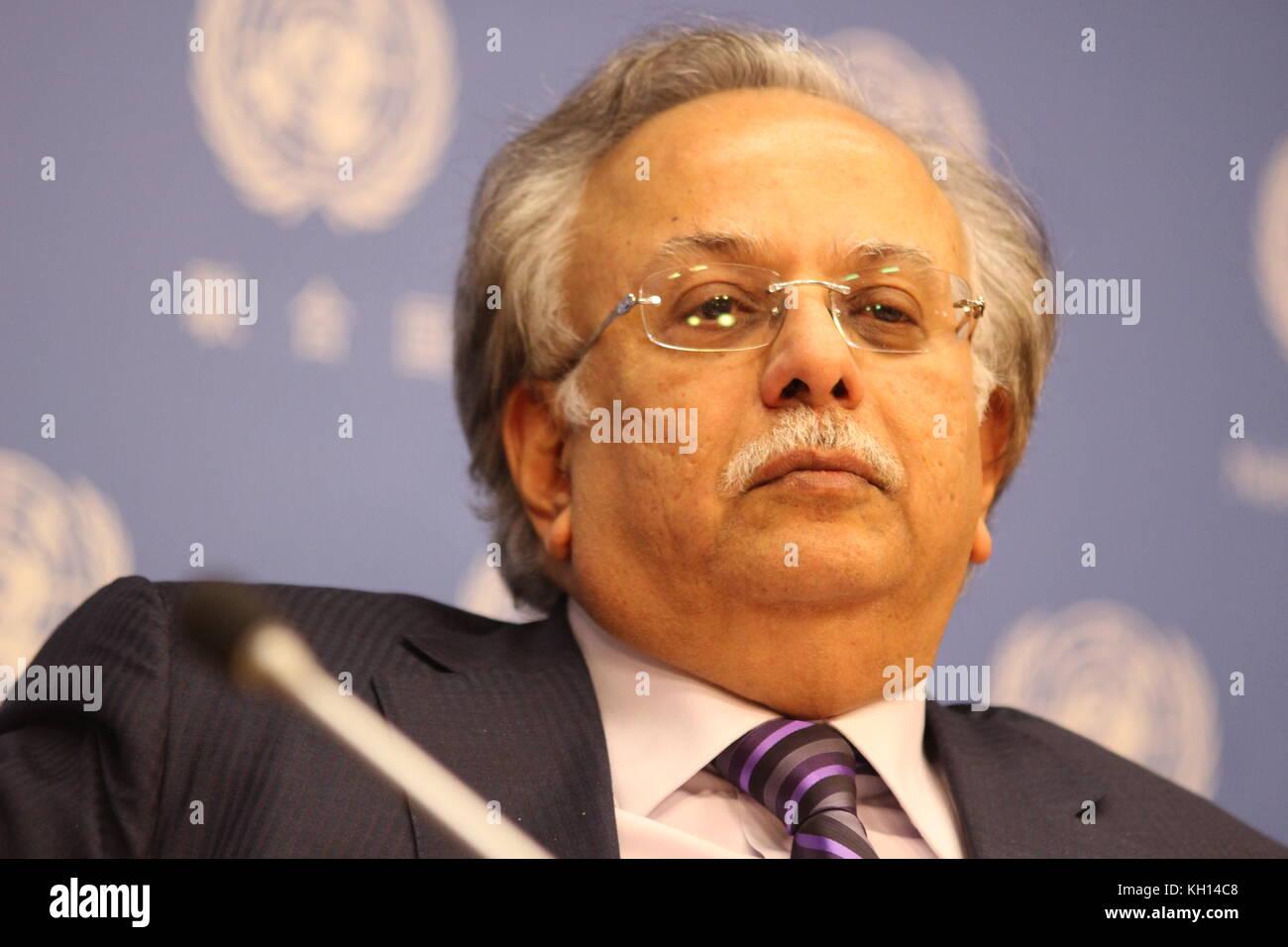 UN New York USA 10th Nov 2017 Saudi Ambassador Abdallah Y Stock