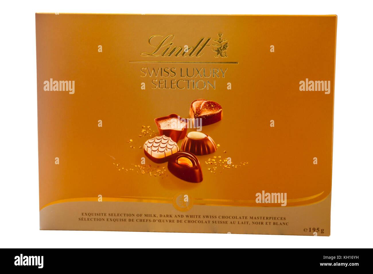UNopened Box Of Lindt Swiss Luxury Selection Chocolates - Stock Image