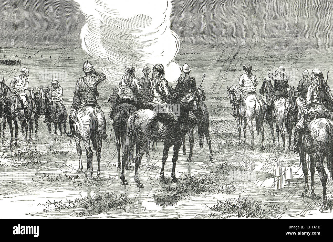 Egyptian Army attempt to relieve Tokar, 4 February 1884, Sudan war - Stock Image