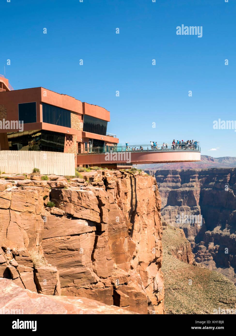 Skywalk Grand Canyon West Rim - Arizona, AZ, USA - Stock Image