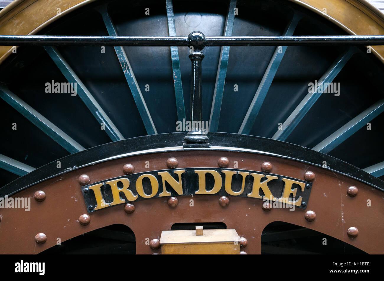 The Iron Duke locomotive, Didcot Railway Centre, United Kingdom - Stock Image