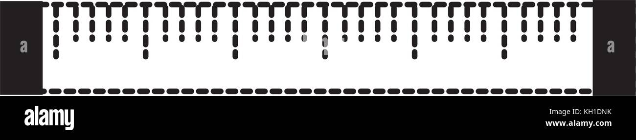 Isolated ruler design - Stock Vector