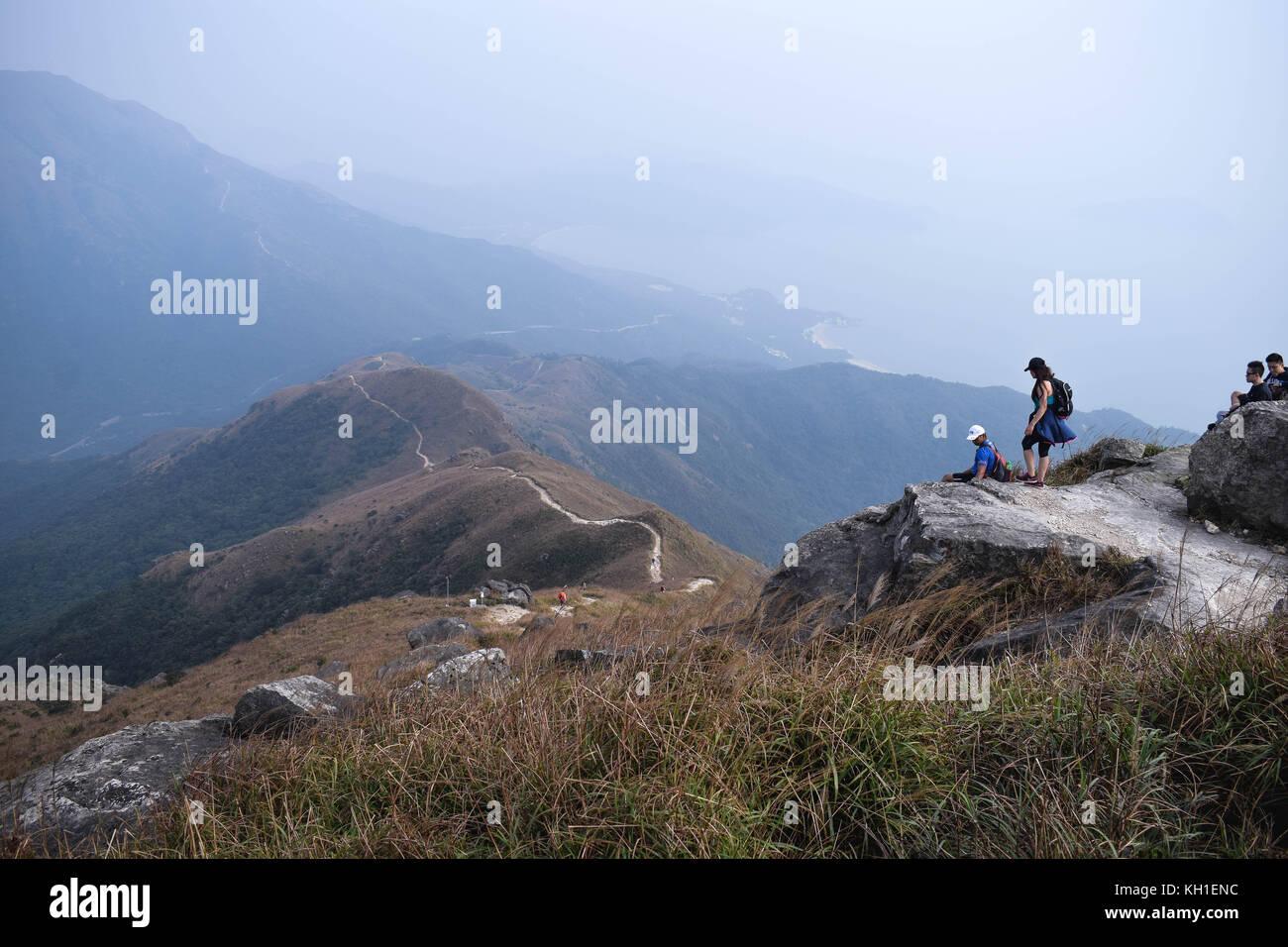 View from Lantau Peak Hong Kong - Stock Image
