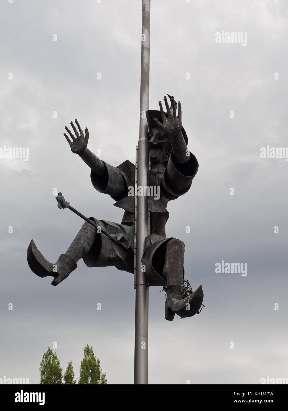 Baba Yaga Sculpture in the town of Haskovo. - Stock Image