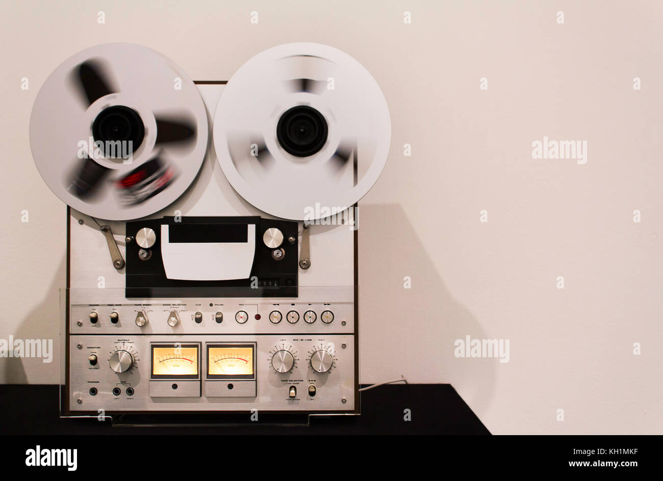 Old analog audio and video tape recorder used for professional use. - Stock Image