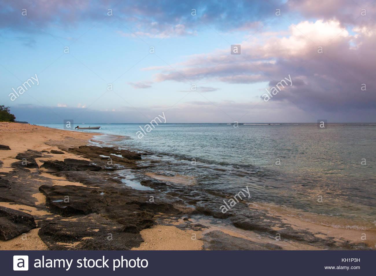 Sunrise on Tongatapu Island, Tonga - Stock Image
