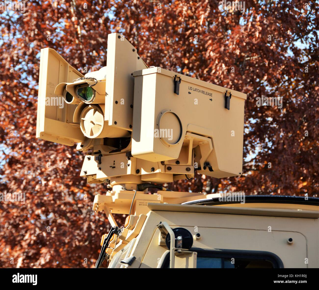 Military Remote Rocket Launcher - Stock Image