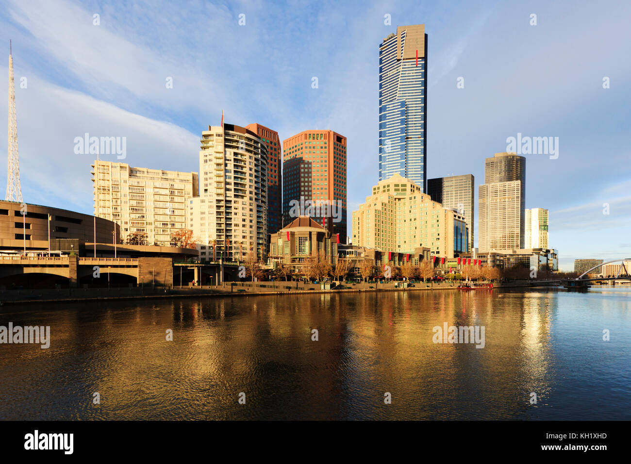 Melbourne, Australia, the skyline with beautiful early morning light. - Stock Image