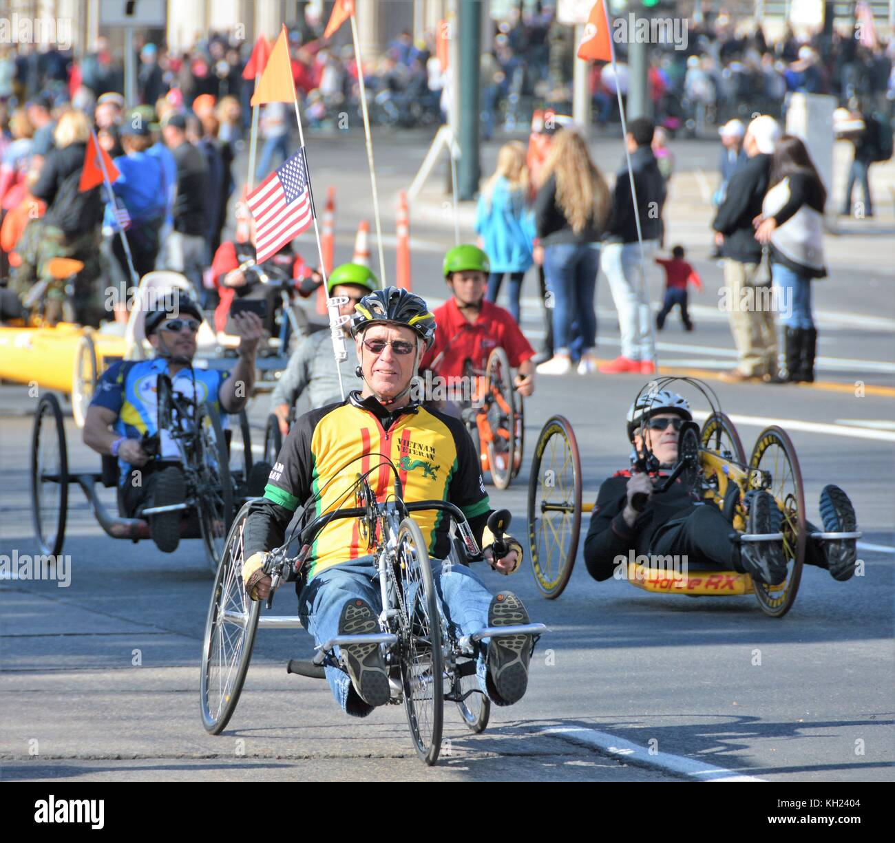Handicapped Bicyclists - Stock Image