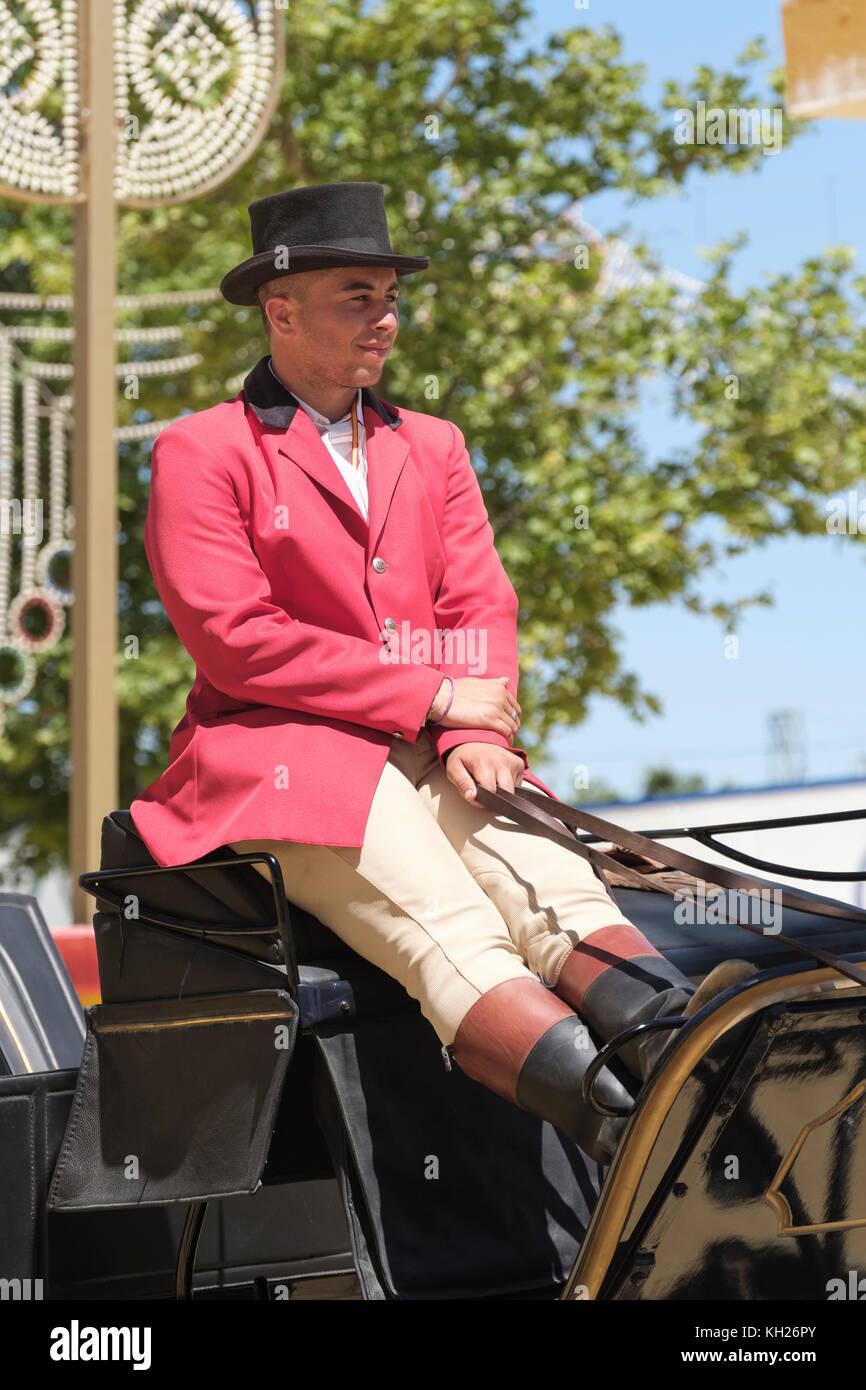 Jerez de la Frontera, Feria de Caballo, May Horse Fair, Cadiz, Andalucia, Spain. - Stock Image