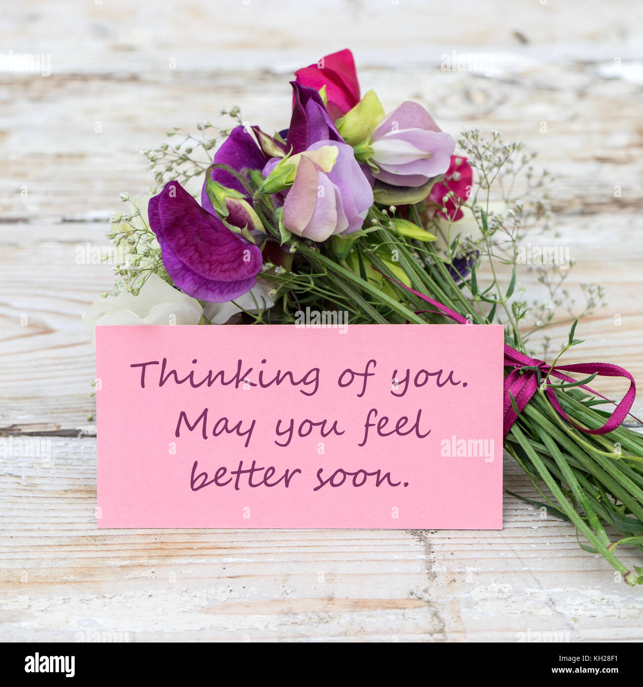 Get Well Soon Card Flowers Stock Photos Get Well Soon Card Flowers