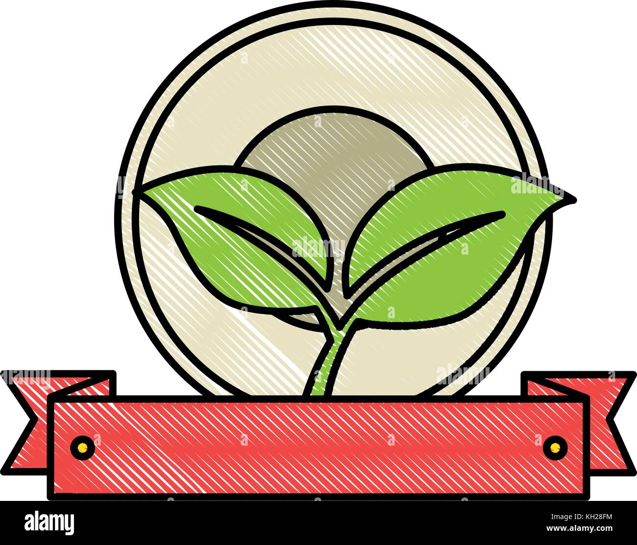 leafs plant isolated icon - Stock Vector
