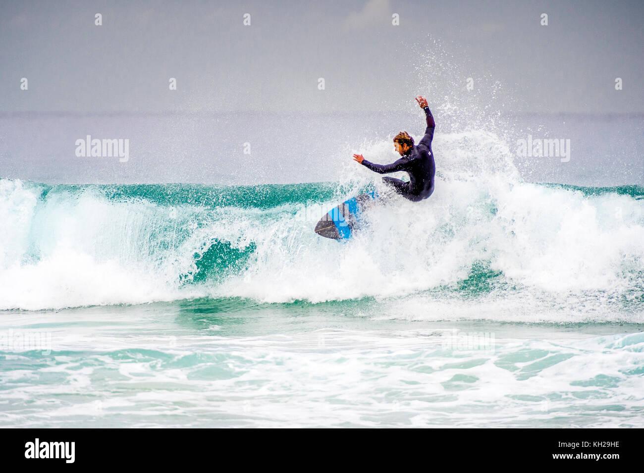 Surfing at Bondi Beach - Stock Image