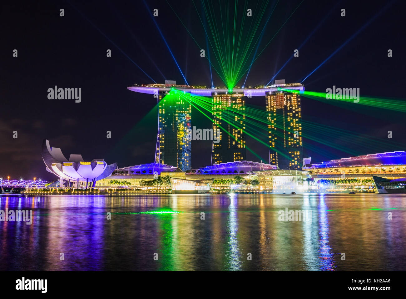 marina bay sands hotel laser stock photos marina bay sands hotel