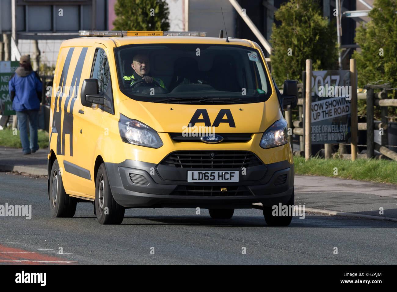 An AA mobile breakdown recovery van in Blackpool - Stock Image