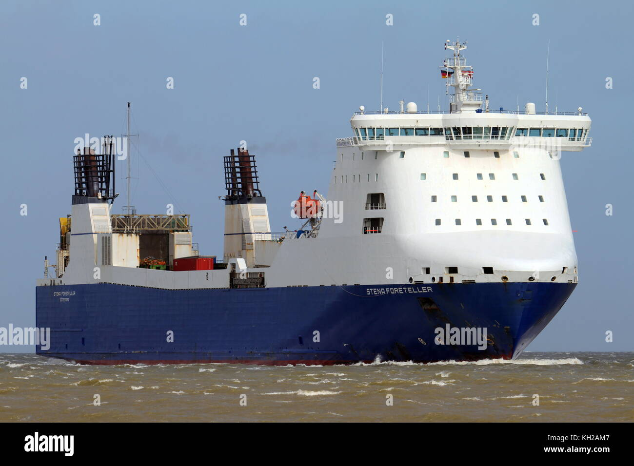 The Ro-Ro ship Sten Foreteller is waiting on April 1, 2015, in front of the port of Cuxhaven. - Stock Image