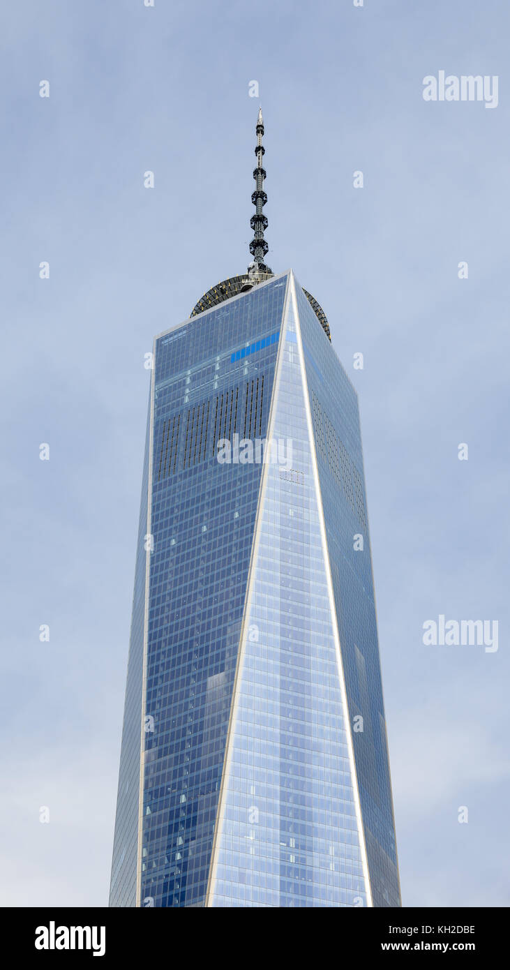 The One World Trade Center in Lower Manhattan, New York City.  The building was completed in 2013 and opened in - Stock Image