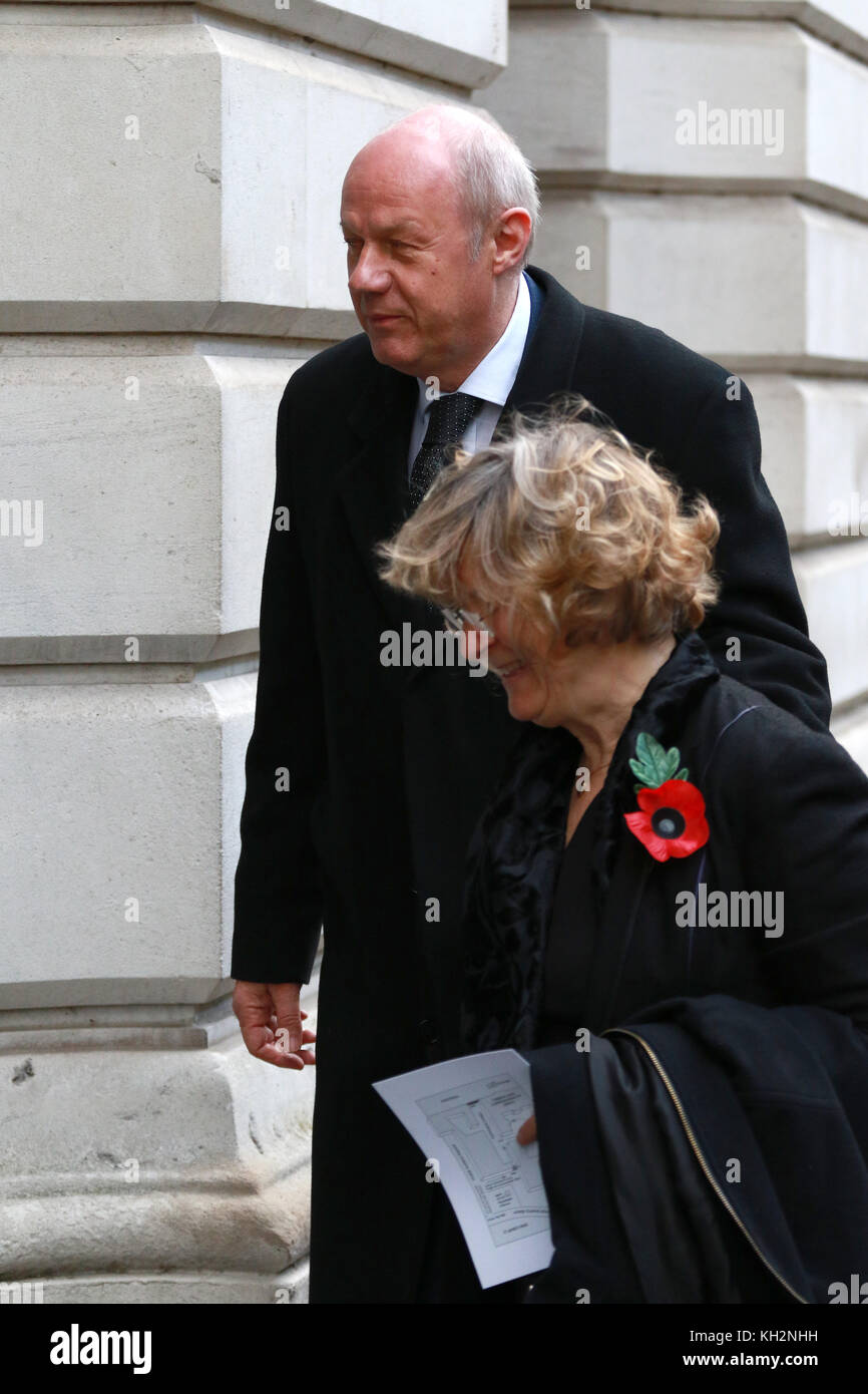 London, UK. 12th Nov, 2017. Damian Green, First Secretary of State, and wife Alicia Collinson, in Downing Street - Stock Image
