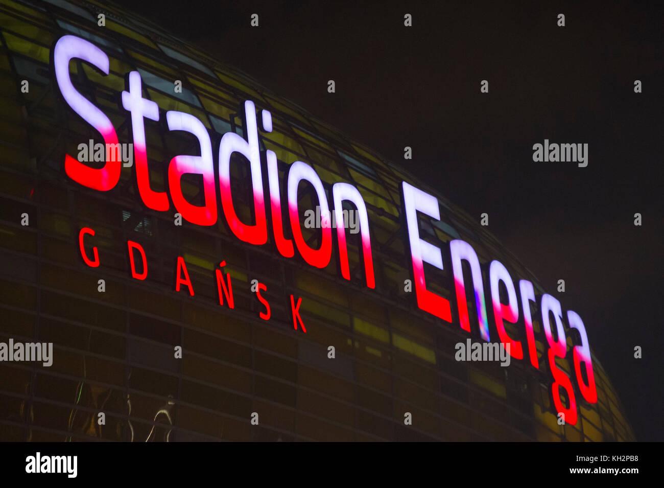 Stadion Energa Gdansk in Gdansk, Poland. 12th Nov, 2017. Credit: Wojciech Strozyk/Alamy Live News - Stock Image