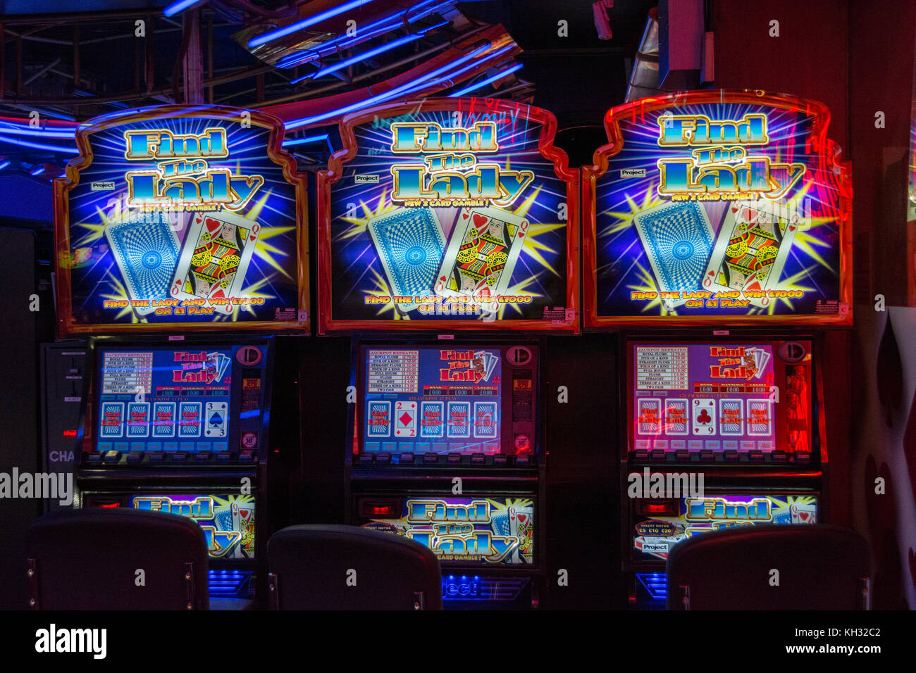 An amusement arcade in Chinatown in London's West End, UK Stock Photo