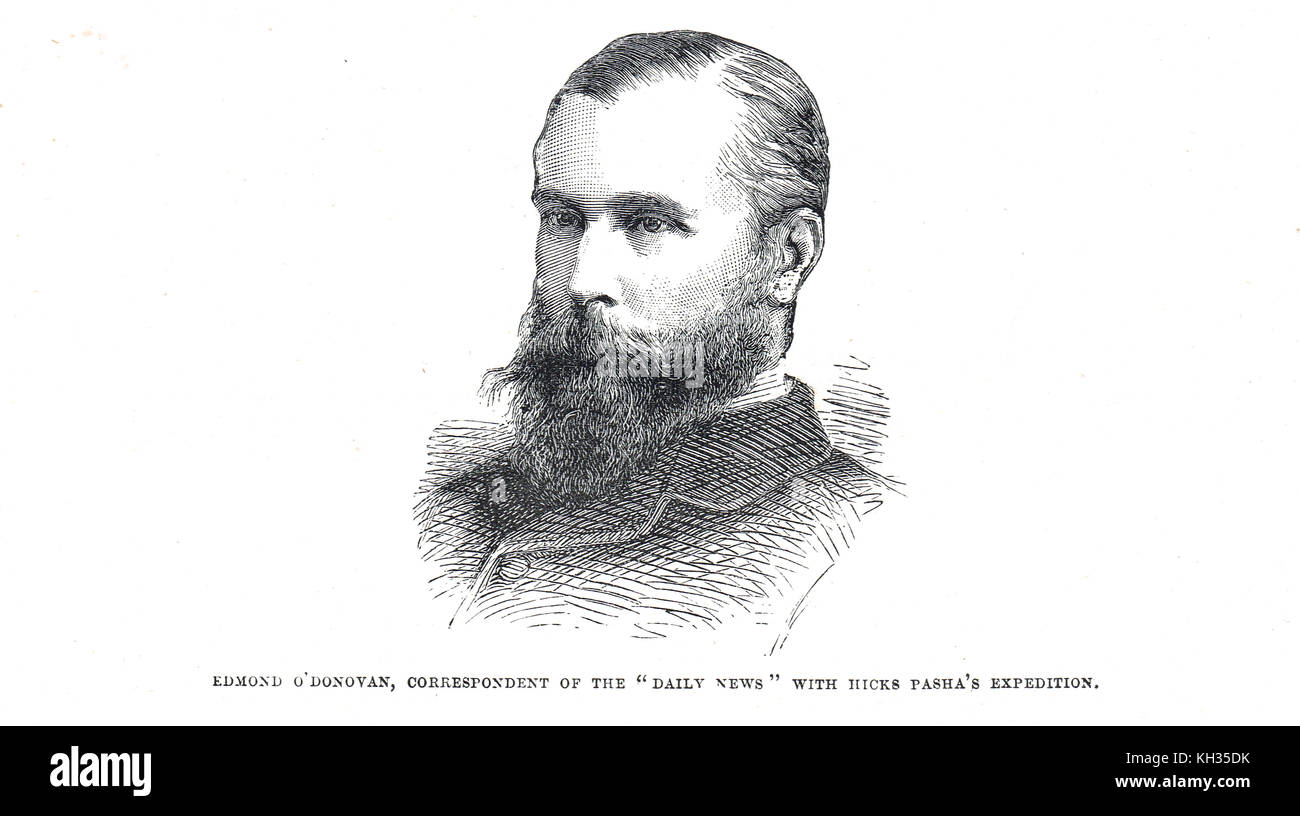 Edmond O'Donovan, Irish war correspondent, Daily News, killed 1883 by forces of Muhammad Ahmad, Battle of Shaykan, - Stock Image