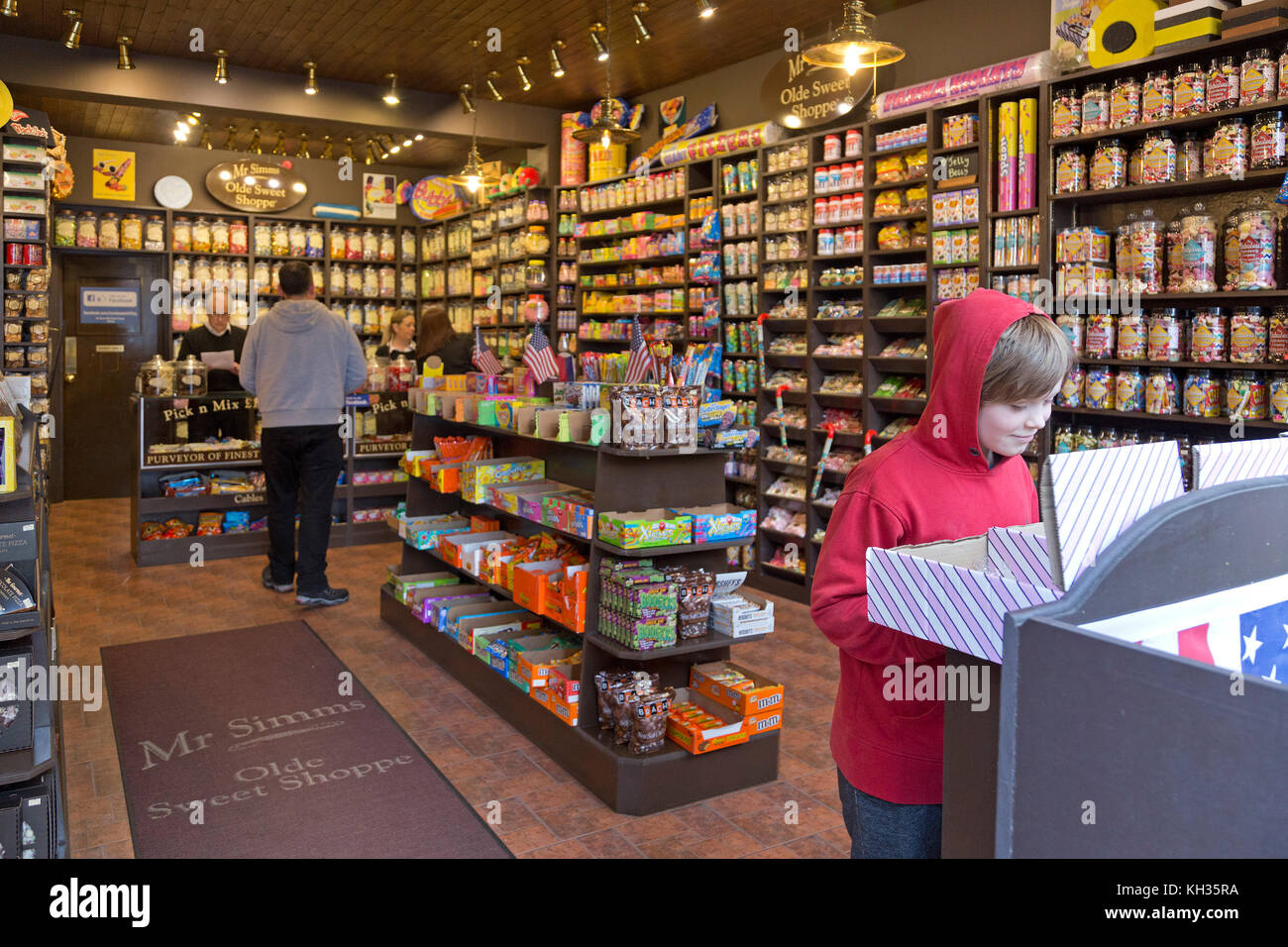 Mr Simms Olde Sweet Shoppe, Stirling, Scotland, Great Britain - Stock Image