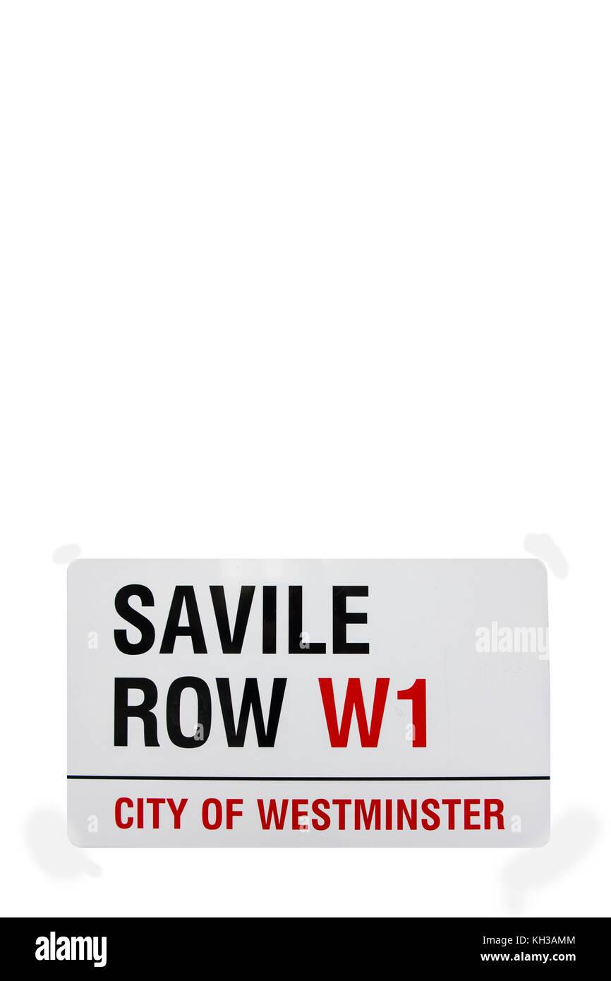 Saville Row sign - Stock Image