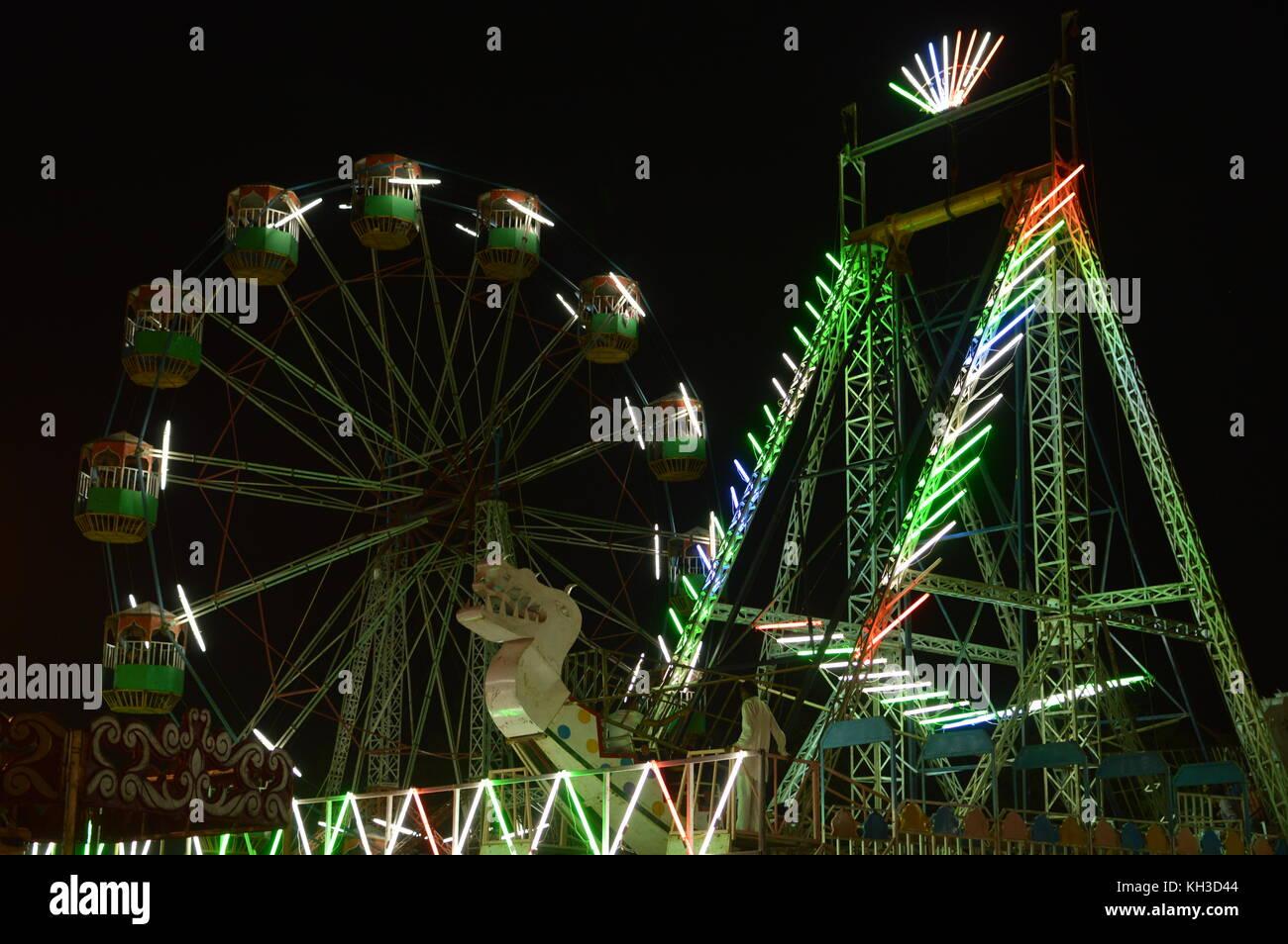lightful ferries wheel Stock Photo