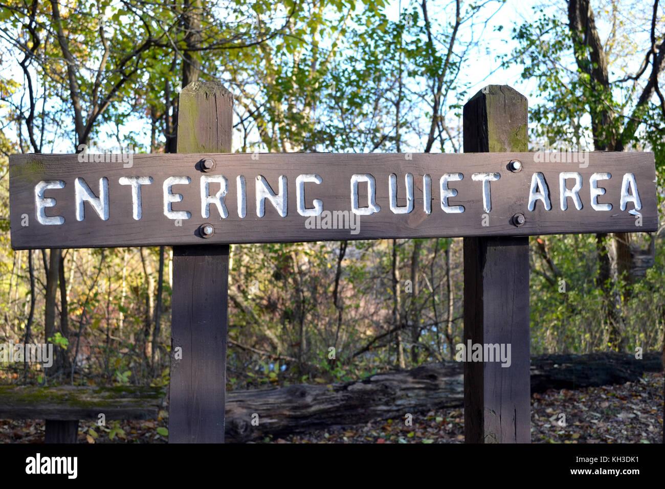 Quiet Sign - Stock Image