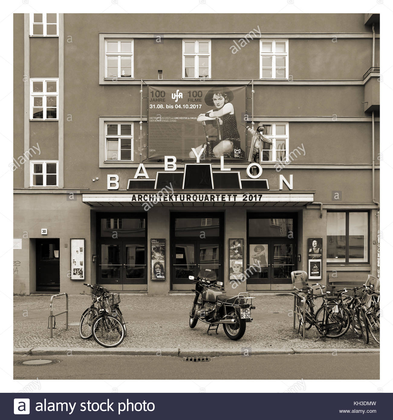 A theater on Rosa-Luxembourg-Platz in Berlin (Germany). - Stock Image