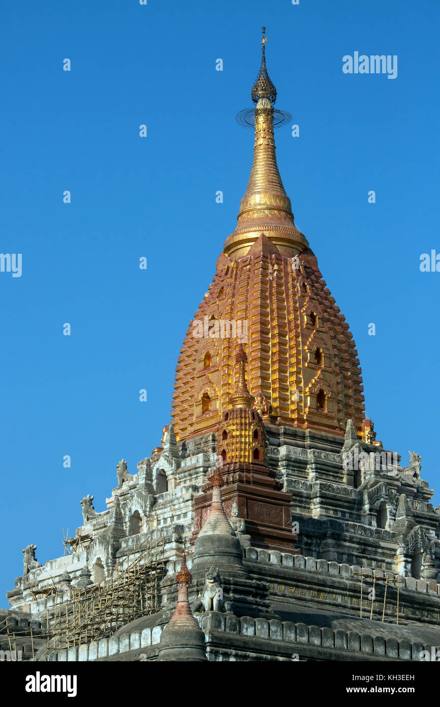 The Ananda Buddhist Temple in the ancient city of Bagan in Myanmar (Burma). Dates from 1105AD. - Stock Image