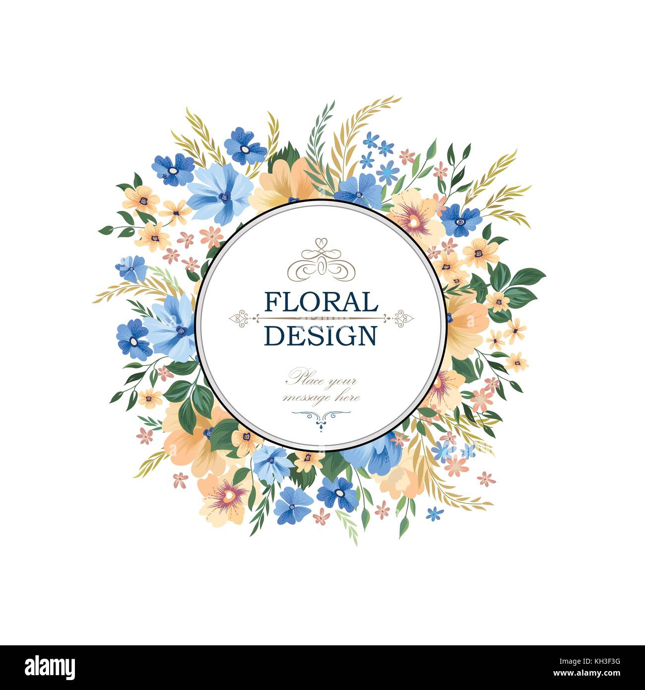 Floral frame pattern flower circle border background greeting card flower circle border background greeting card design with flowers m4hsunfo