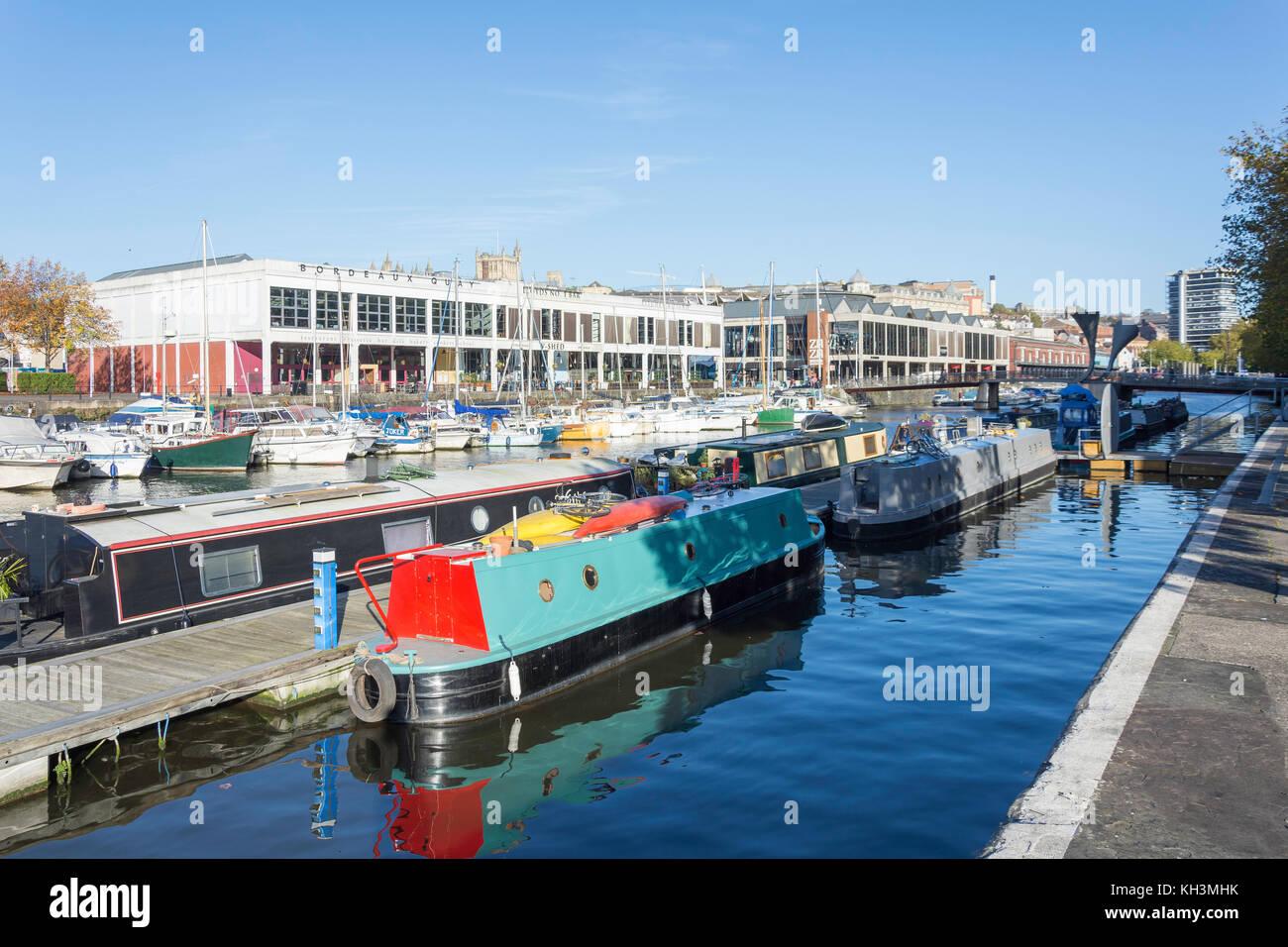 Floating Harbour, Harbourside, Bristol, England, United Kingdom - Stock Image