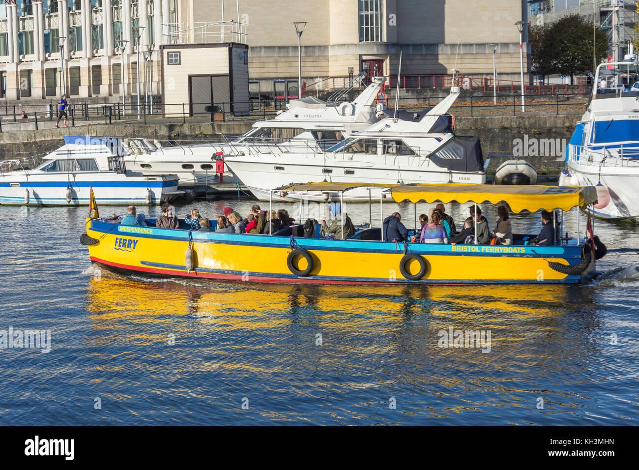 Bristol Ferryboat, Floating Harbour, Harbourside, Bristol, England, United Kingdom - Stock Image